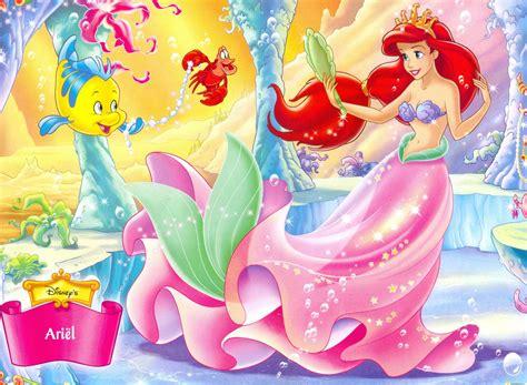 little mermaid disney cartoon fishes hd wallpaper mermaid screensavers and wallpaper wallpapersafari