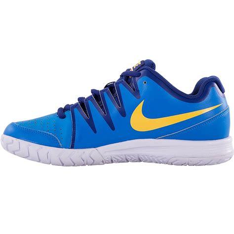 nike air vapor court s tennis shoe blue orange