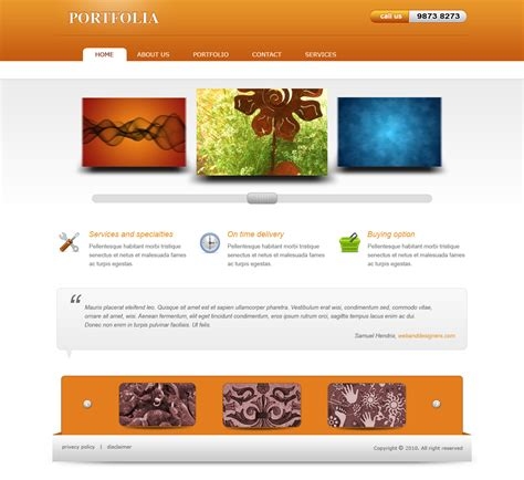 website tutorial video design a website layout in photoshop portfolia
