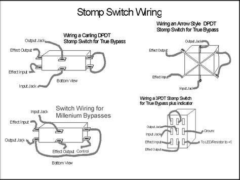 pedal stomp dpdt switch wiring diagram pedal get free