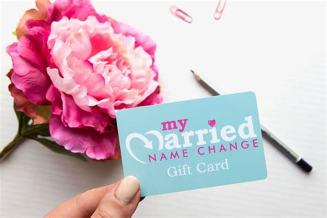 Change Gift Cards To Cash - married name change gift card
