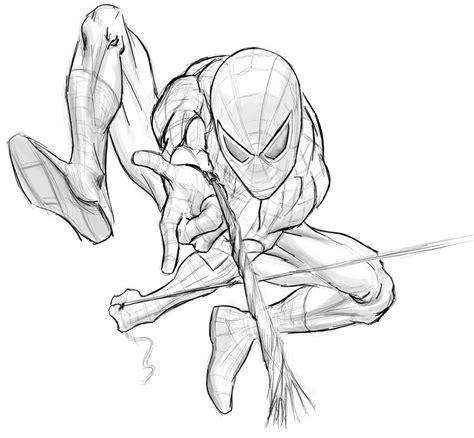 spiderman sketch by masterss on deviantart