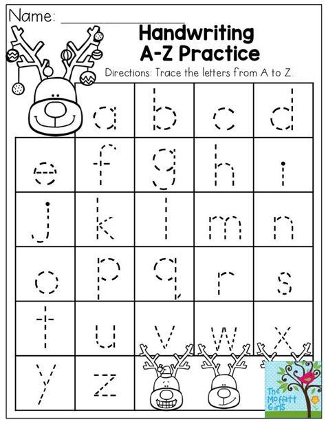 Motor Skills Handwriting Worksheets handwriting a z practice plus tons more activities to