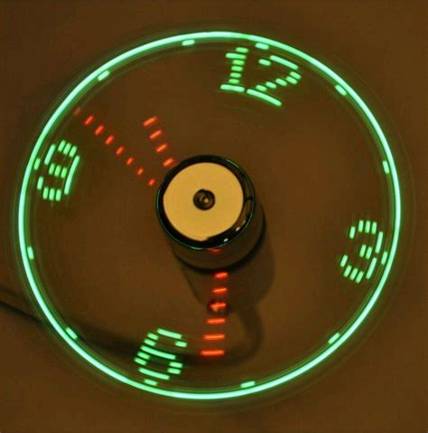 Usb Led Clock Fan usb led clock fan cool office gadget desk gooseneck usb powered fan displays hour
