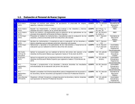 calendario de evaluaciones docentes 2016 del inee calendario 2016 de evaluaciones del servicio profesional