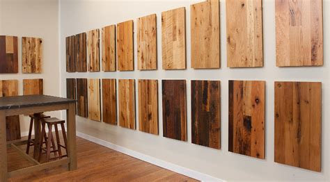 our reclaimed wood flooring showroom contemporary