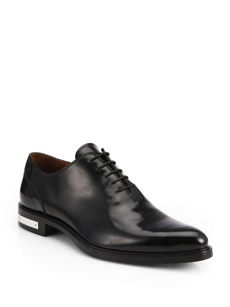 givenchy richelieu lace up dress shoes in black for lyst