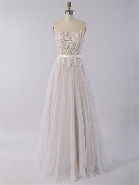 Sleeveless Tulle Dress sleeveless lace wedding dress with tulle skirt 4026