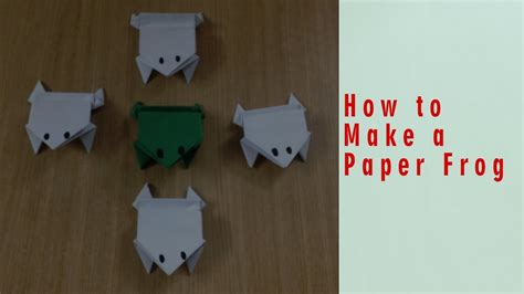 Ways To Make Paper - origami way how to make a paper jumping frog my crafts