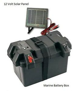 boat battery box with charger marine power station smart battery box w solar panel