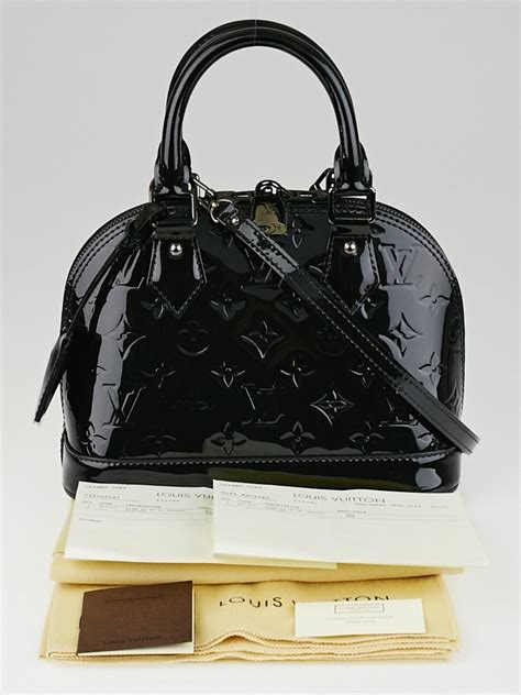 louis vuitton black magnetique monogram vernis alma bb bag