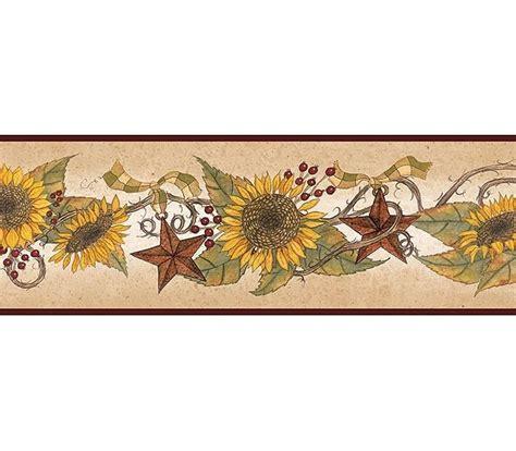 sunflower wallpaper border kitchen gallery