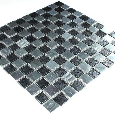 schachbrett fliesen glas aluminium alu mosaik schachbrett 25x25x4mm tm33126m