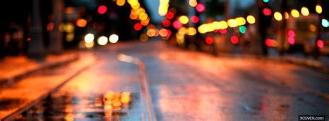 City Lights On The Streets Photo Facebook Cover Lights Cover Photo
