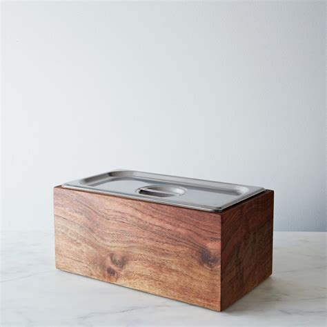 table top compost bin noaway countertop walnut compost bin