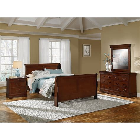 cherry bedroom set neo classic 6 piece queen bedroom set cherry value