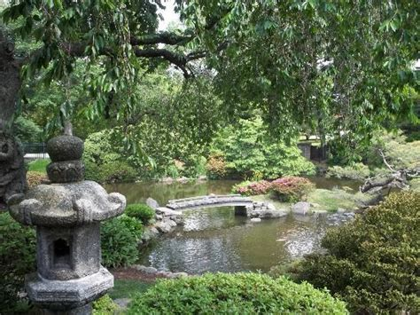 Japanese House And Garden by Bridge In The Gardens