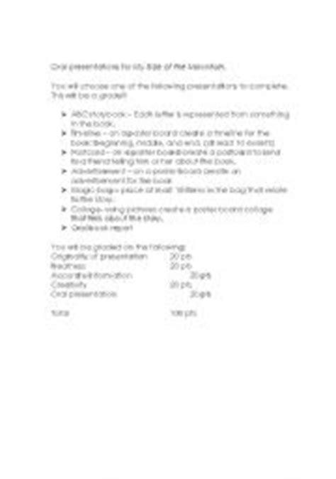 my side of the mountain book report worksheets my side of the mountain book report