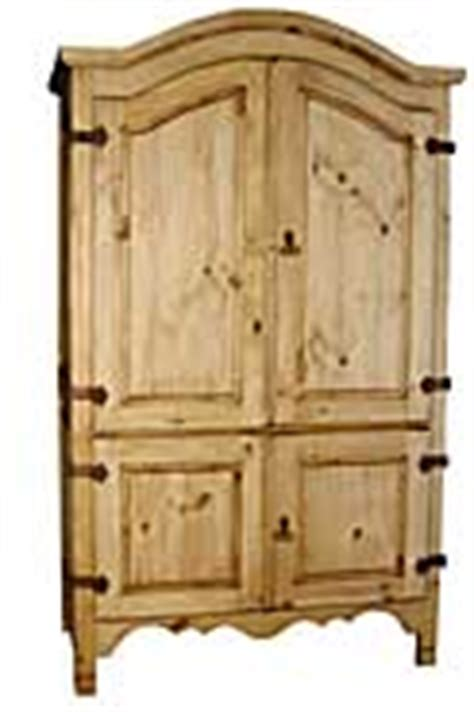 Pine Computer Armoire Mexican Pine Computer Cabinet Armoire