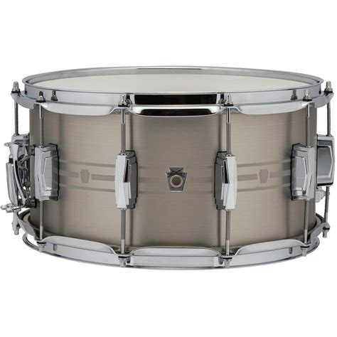 Set Supra7 Stainless ludwig 7 quot x 14 quot heirloom stainless steel snare drum