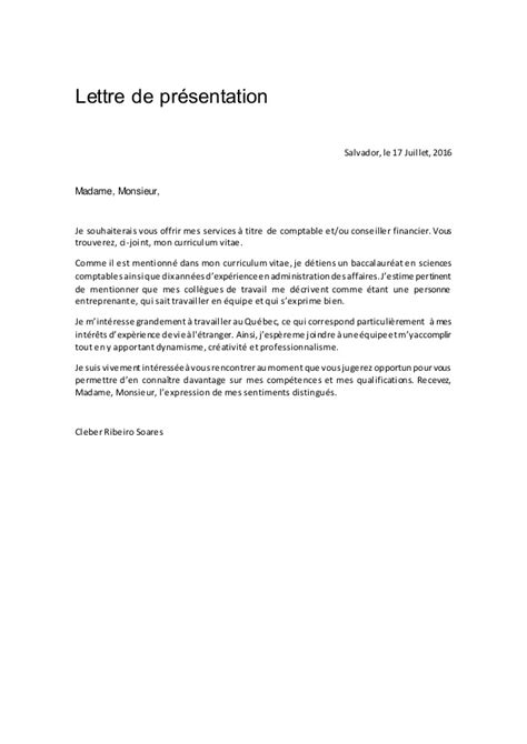 Pr Sentation Lettre De Motivation Exemple lettre de pr 233 sentation introduction 28 images exemple