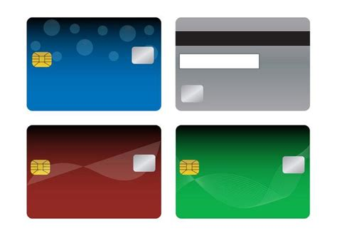 blank credit card template green bank cards templates free vector stock