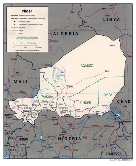 political map of niger detailed political and administrative map of niger niger