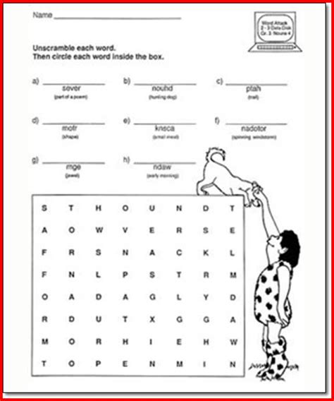 Third Grade Grammar Worksheets by Third Grade Worksheets Third Best Free Printable