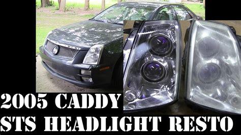 Cadillac Sts Headlights by 2005 Cadillac Sts Headlight Fog Running Light Restore Pt2