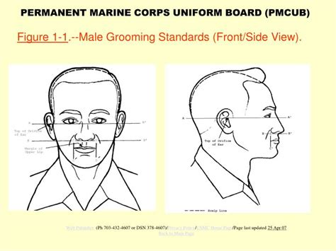 marine corps grooming standards for men and women grooming standards marine corps
