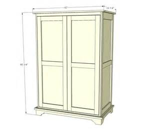 Armoire Dimensions by White Or Tv Armoire Diy Projects