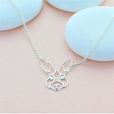 Origami Rabbit Necklace - origami rabbit necklace by designs