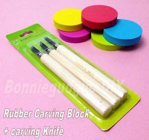 rubber st carving blocks rubber st carving block and carving knife for basis diy