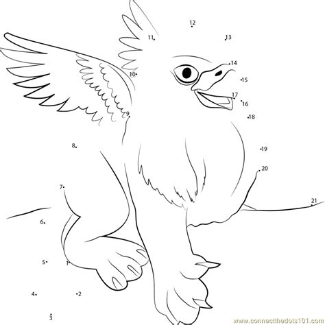 baby griffin coloring page connect the dots baby griffin mythical creatures