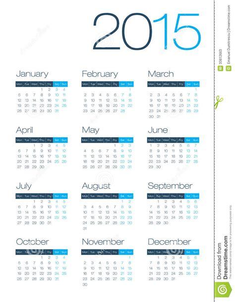 Calendario Moderno Modern And Clean Business 2015 Calendar Stock Photos