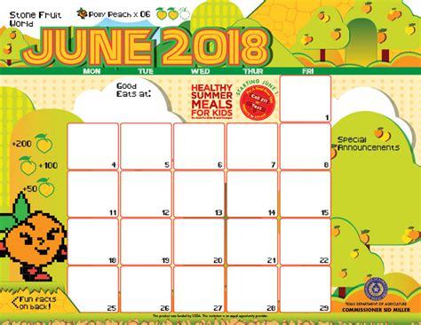 2017 Summer Calendar Template