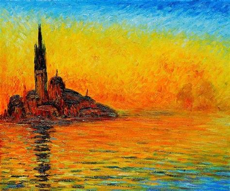 twilight painting san giorgio maggiore by twilight painting claude monet