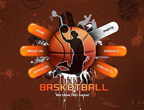 Basketball Flash Website Template Best Website Templates Free Basketball Website Templates