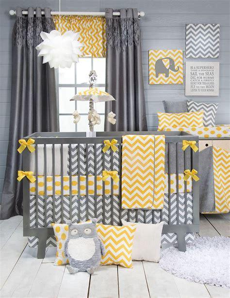 yellow and grey chevron bedding sweet potato swizzle baby bedding crib set 8pc yellow gray