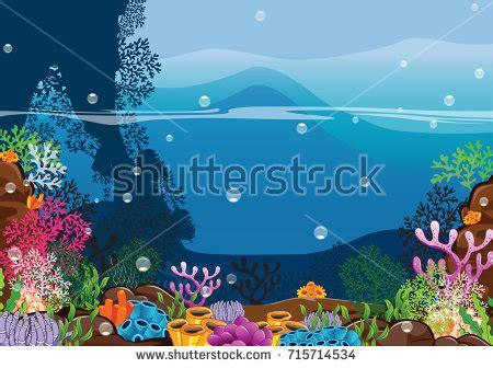 design your own aquarium background seacreate your own imaginationcartoon underwater vector