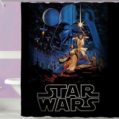 starwars curtains star wars shower curtain from sushioohsushi on etsy