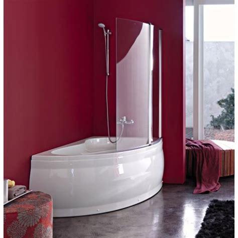 vasca angolare con doccia vasca angolare asimetrica