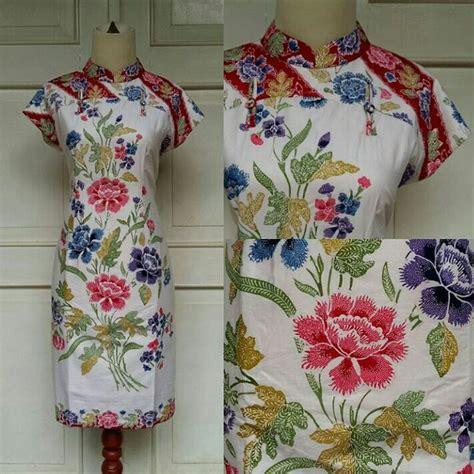 Mb Kain Batik Primis Halus jual kain batik halus encim pekalongan kualitas primis motif bunga 4 warna mapple shop