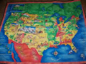 United States Quilt by United States Map Quilt
