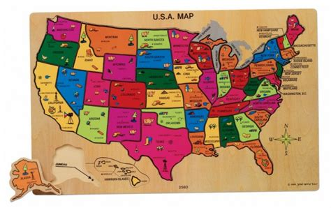 american states puzzle 2 u s a map wooden toys toys categories