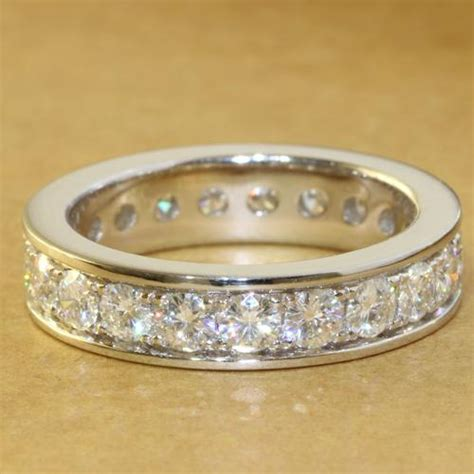 Wedding Bands Brands by 2 2 Ct Charles Colvard Brand Moissanite Wedding Band For