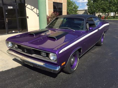 factory plymouth 1970 plymouth duster factory in violet plum purple
