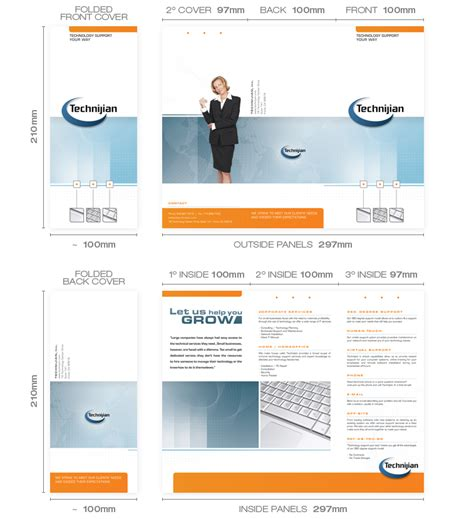 beautiful of legal size tri fold brochure template ai best templates