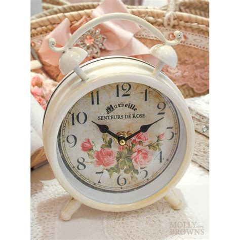 shabby chic cream floral clock fancy gifts by molly browns