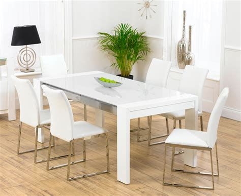 White Dining Table With Chairs with Scala White Gloss Dining Table